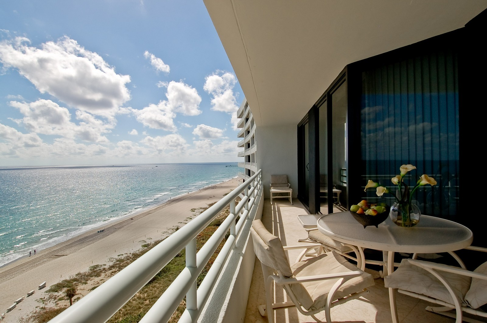 Real Estate Photography - 1500 S Ocean, Unit S-1101, Boca Raton, FL, 33432 - Balcony