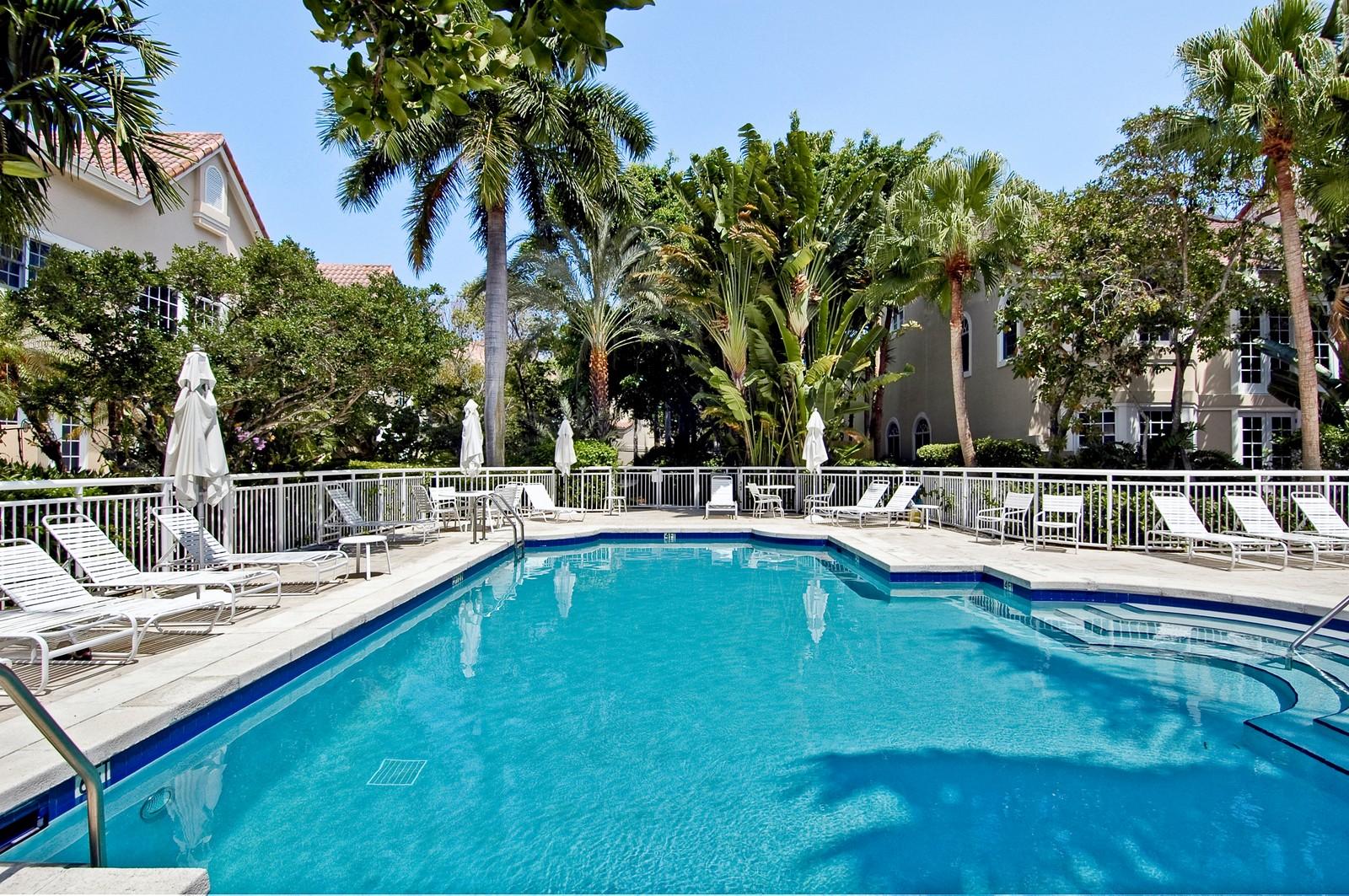 Real Estate Photography - 3685 NE 195 Ter, Aventura, FL, 33180 - Pool