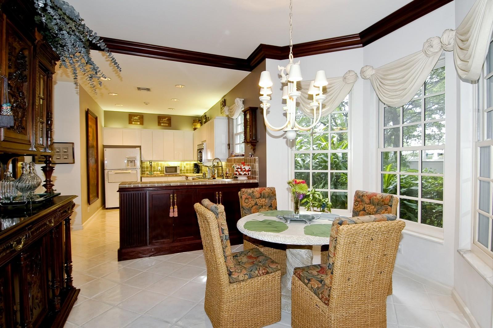 Real Estate Photography - 3685 NE 195 Ter, Aventura, FL, 33180 - Breakfast Room