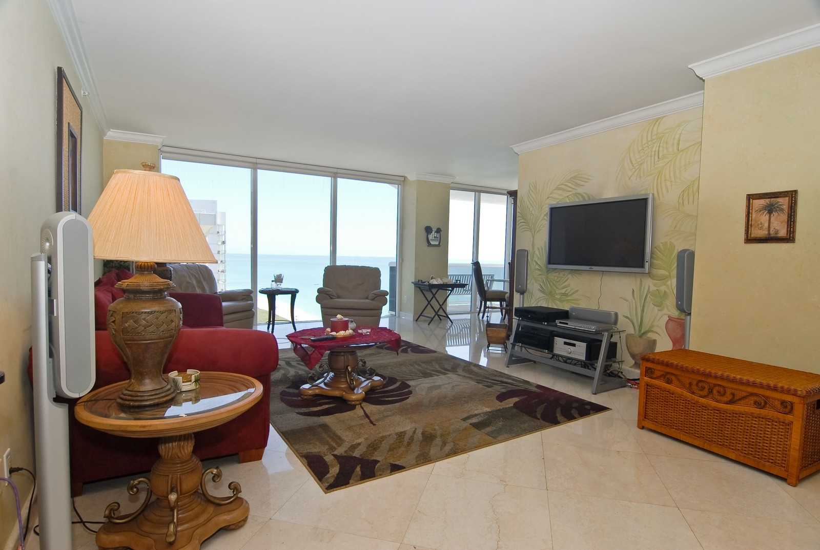 Real Estate Photography - 4779 Collins Ave, Unit 1901, Miami Beach, FL, 33140 - Living Room