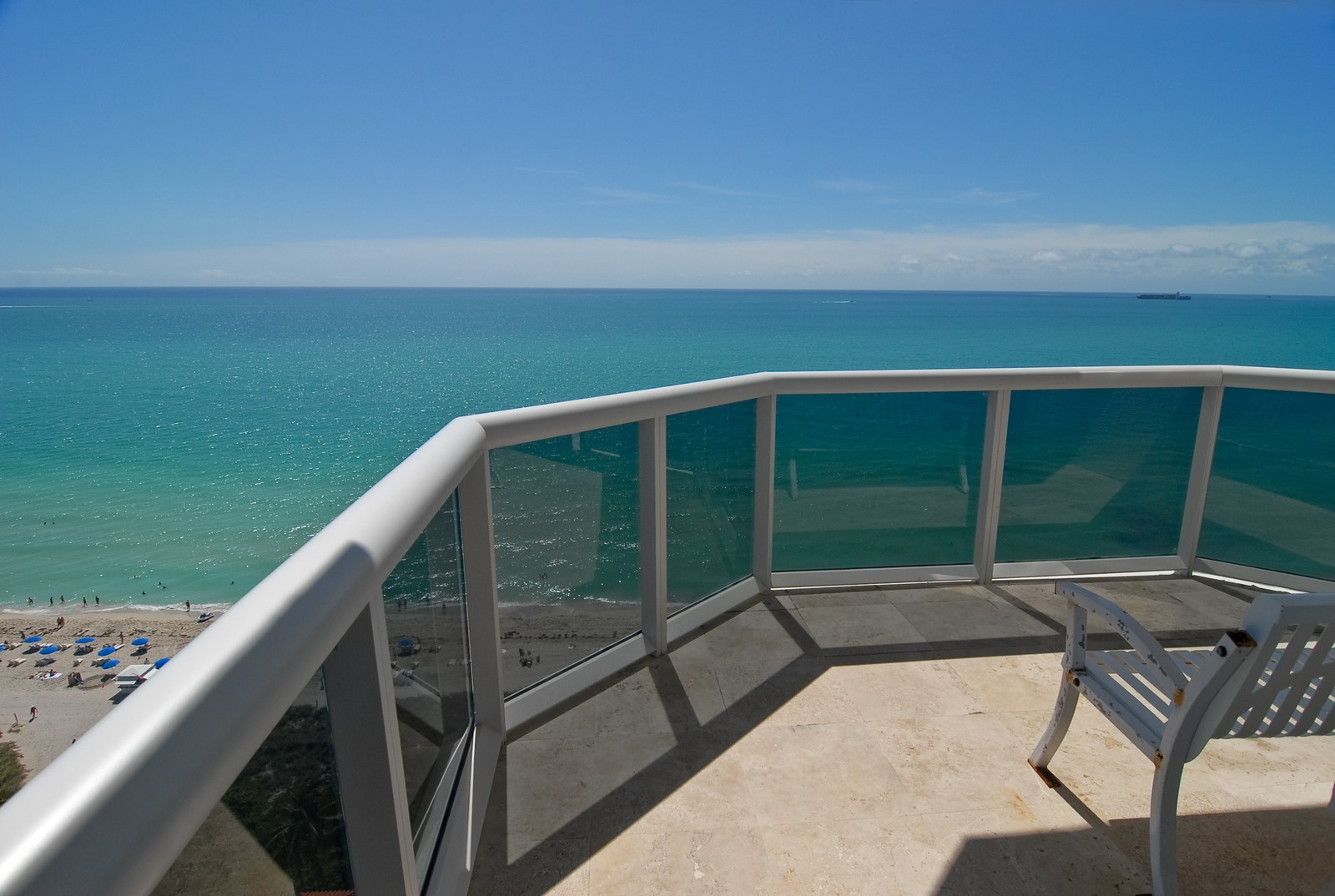 Real Estate Photography - 4779 Collins Ave, Unit 1901, Miami Beach, FL, 33140 - Balcony