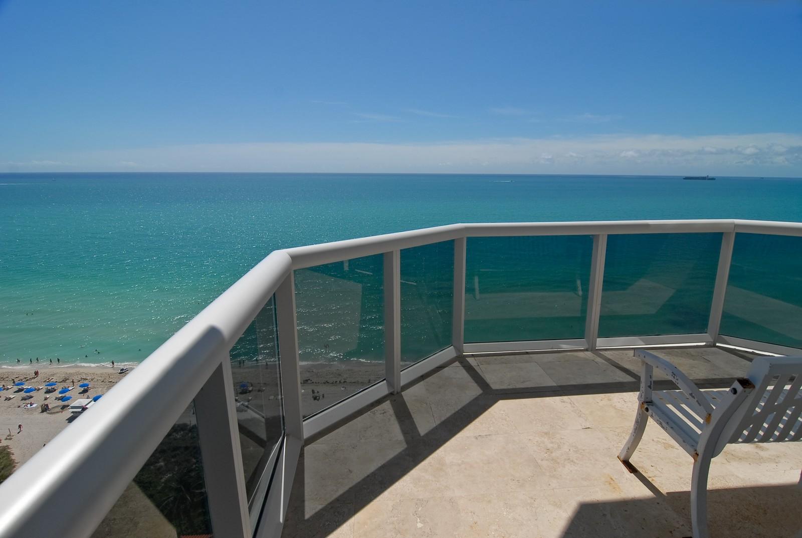 Real Estate Photography - 4779 Collins Ave, Unit 1901, Miami Beach, FL, 33140 - Balcony