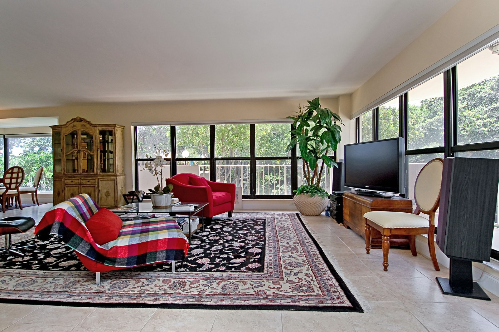 Real Estate Photography - 4605 S Ocean Blvd, Unit 3B, Highland Beach, FL, 33487 - Living Room