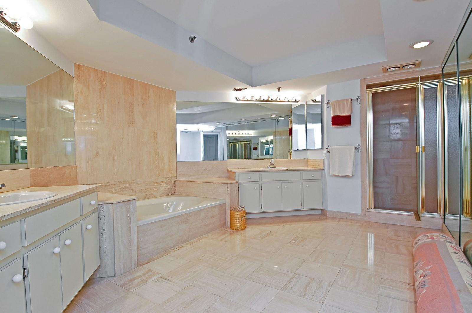 Real Estate Photography - 4605 S Ocean Blvd, Unit 3B, Highland Beach, FL, 33487 - Master Bathroom