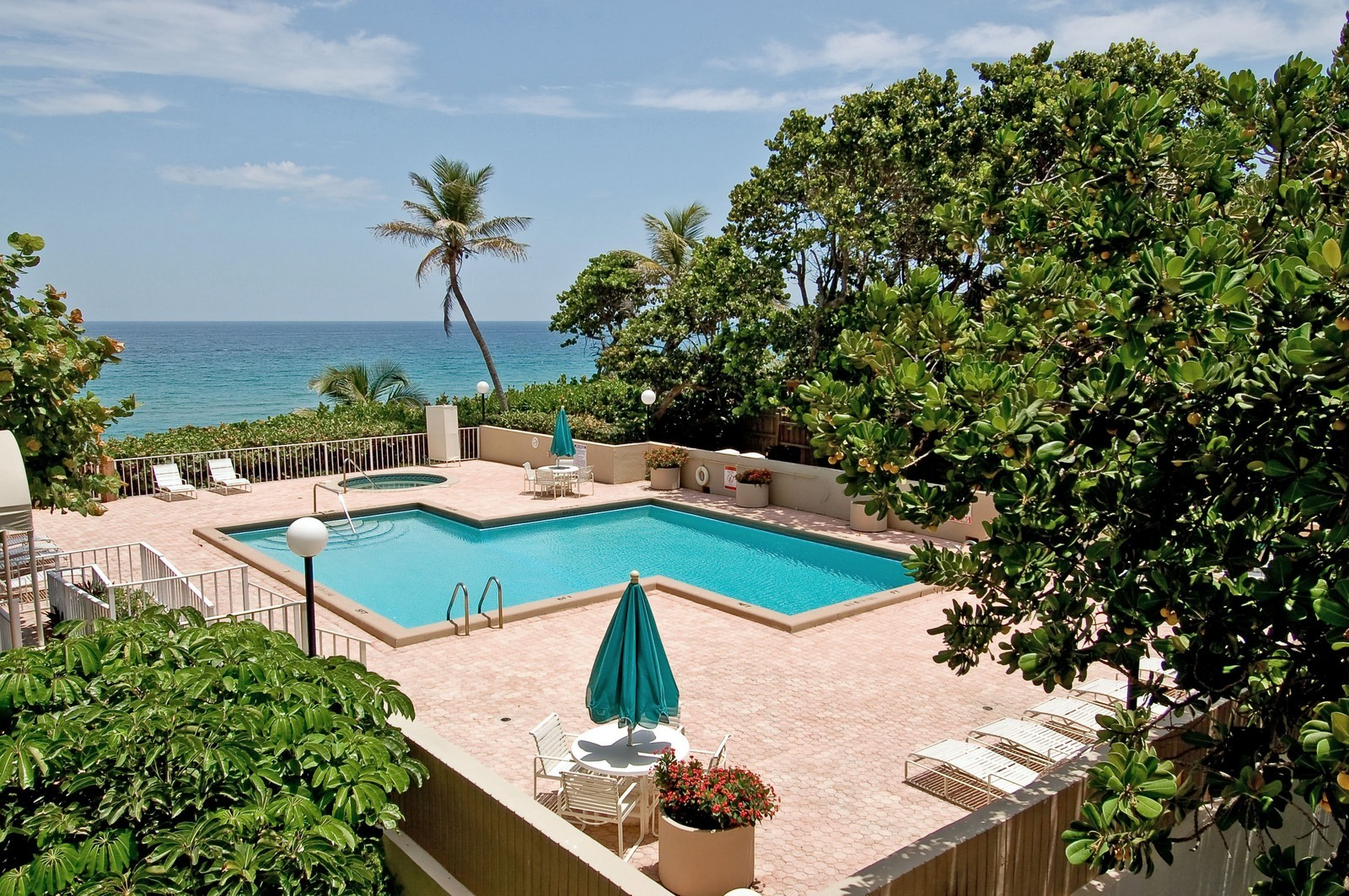 Real Estate Photography - 4605 S Ocean Blvd, Unit 3B, Highland Beach, FL, 33487 - Pool