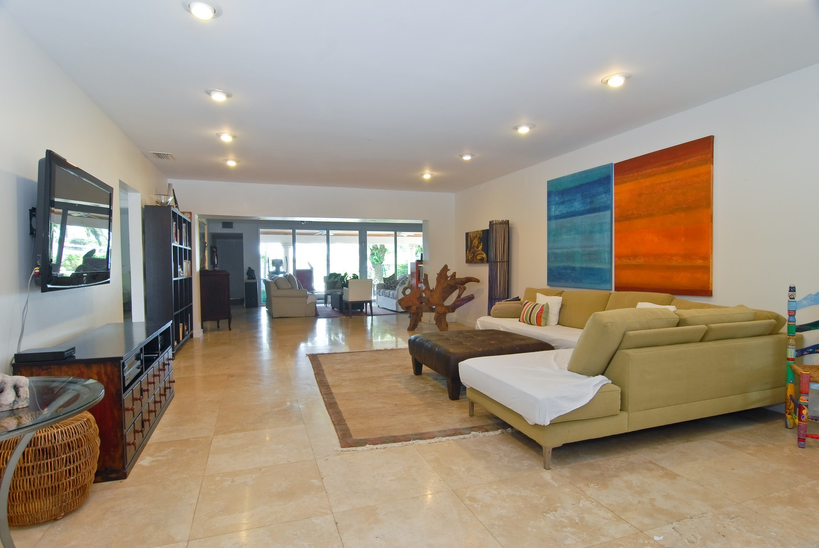 Real Estate Photography - 1320 Still Water Dr, Miami, FL, 33141 - Living Rm/Family Rm