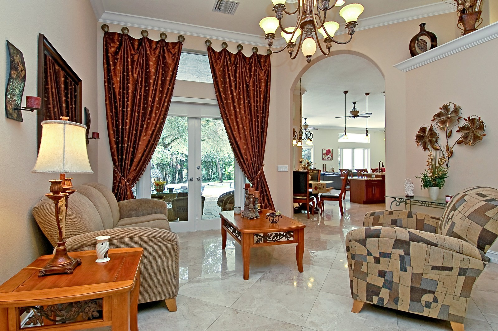 Real Estate Photography - 5400 Woodlanden Ln, Ft Lauderdale, FL, 33021 - Living Room