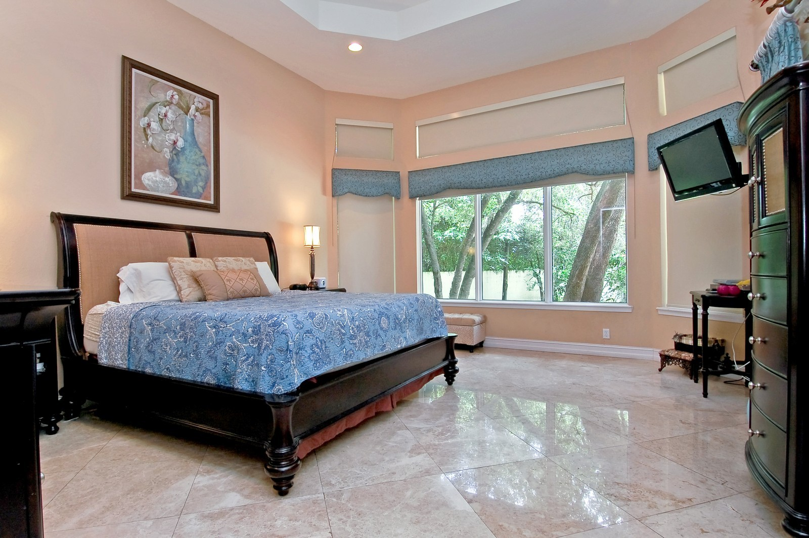 Real Estate Photography - 5400 Woodlanden Ln, Ft Lauderdale, FL, 33021 - Master Bedroom