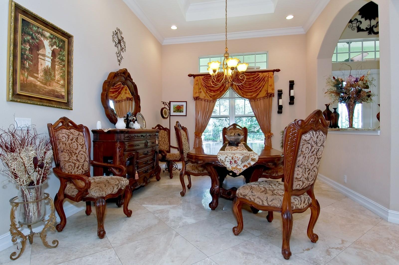 Real Estate Photography - 5400 Woodlanden Ln, Ft Lauderdale, FL, 33021 - Dining Room