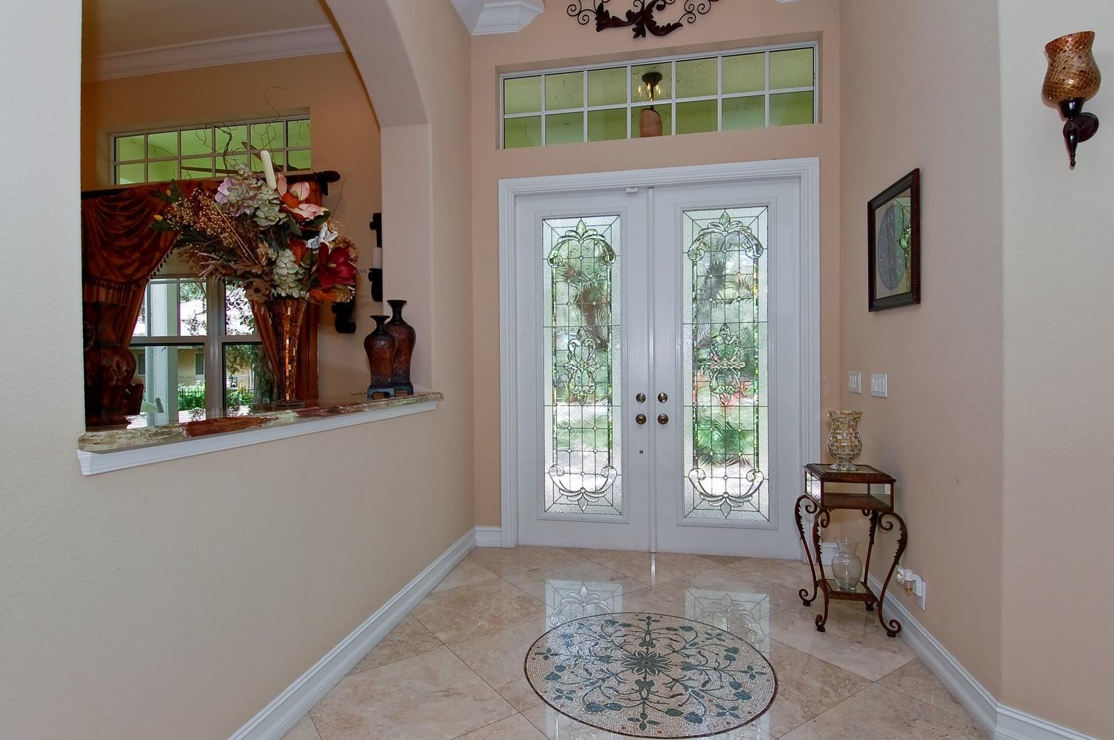 Real Estate Photography - 5400 Woodlanden Ln, Ft Lauderdale, FL, 33021 - Foyer
