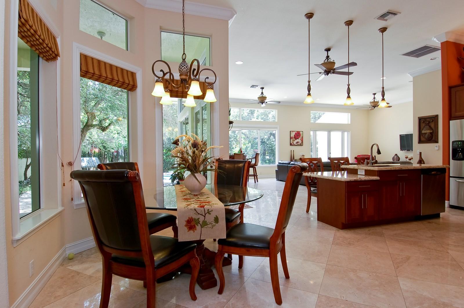 Real Estate Photography - 5400 Woodlanden Ln, Ft Lauderdale, FL, 33021 - Breakfast Area