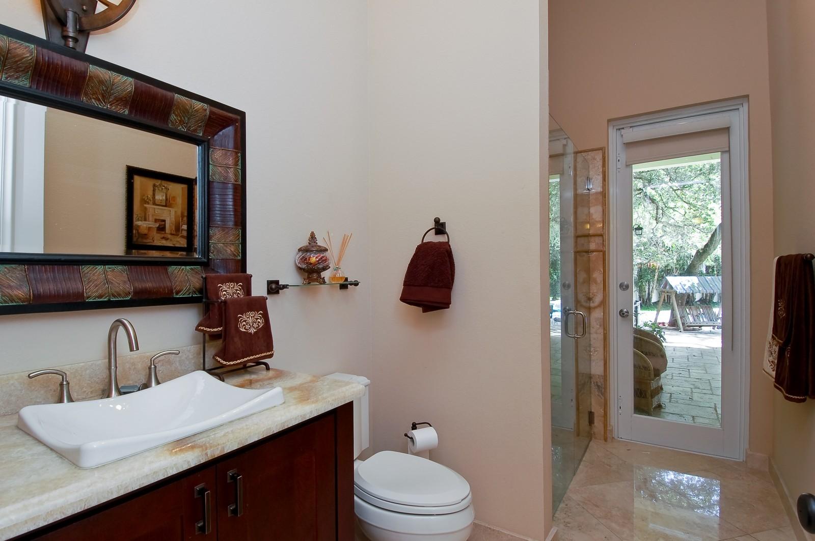 Real Estate Photography - 5400 Woodlanden Ln, Ft Lauderdale, FL, 33021 - 2nd Bathroom