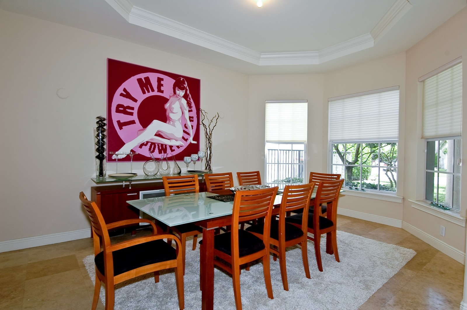 Real Estate Photography - 1260 Hatteras Ln, Hollywood, FL, 33019 - Dining Room