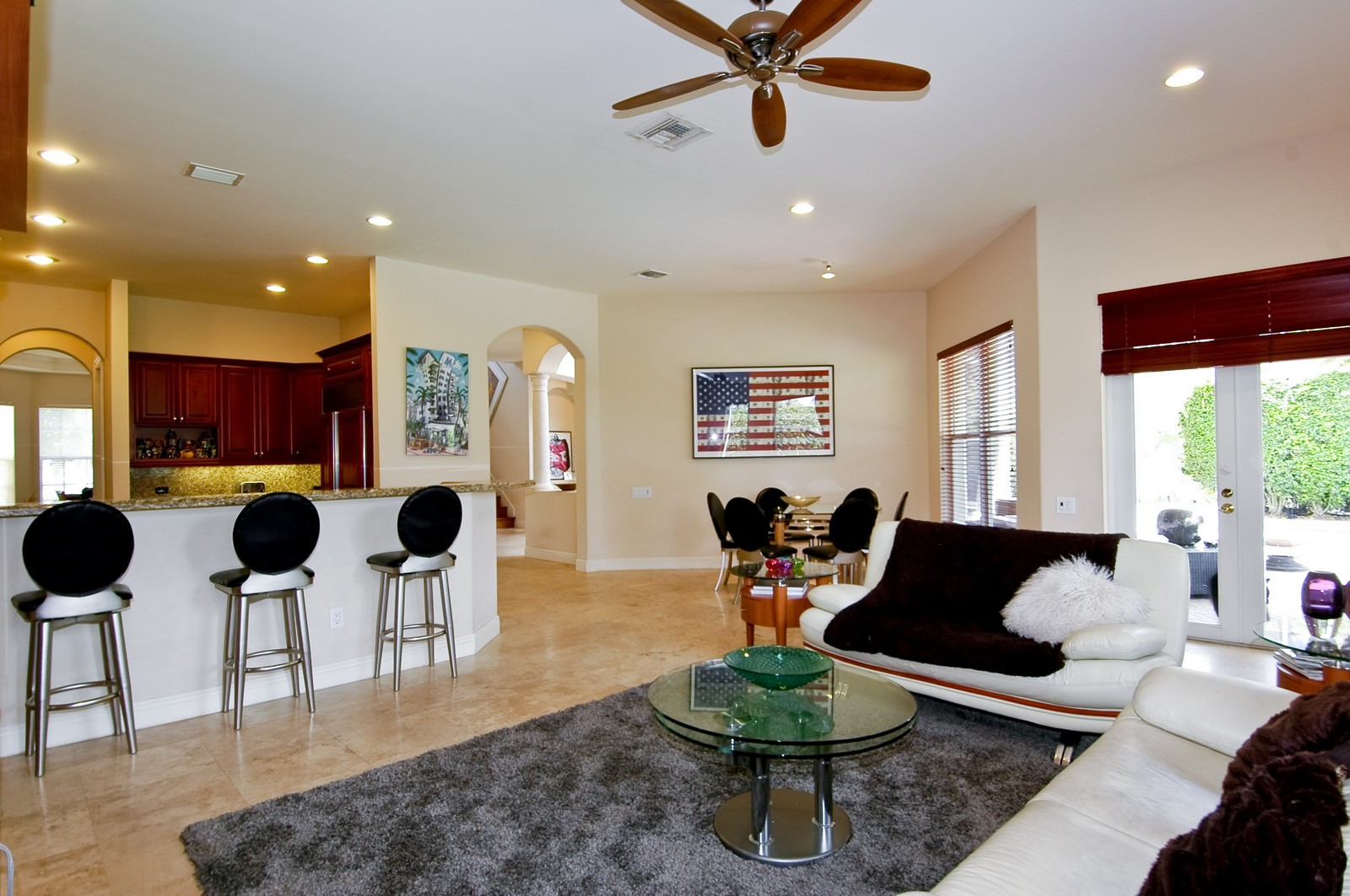 Real Estate Photography - 1260 Hatteras Ln, Hollywood, FL, 33019 - Living Room / Dining Room