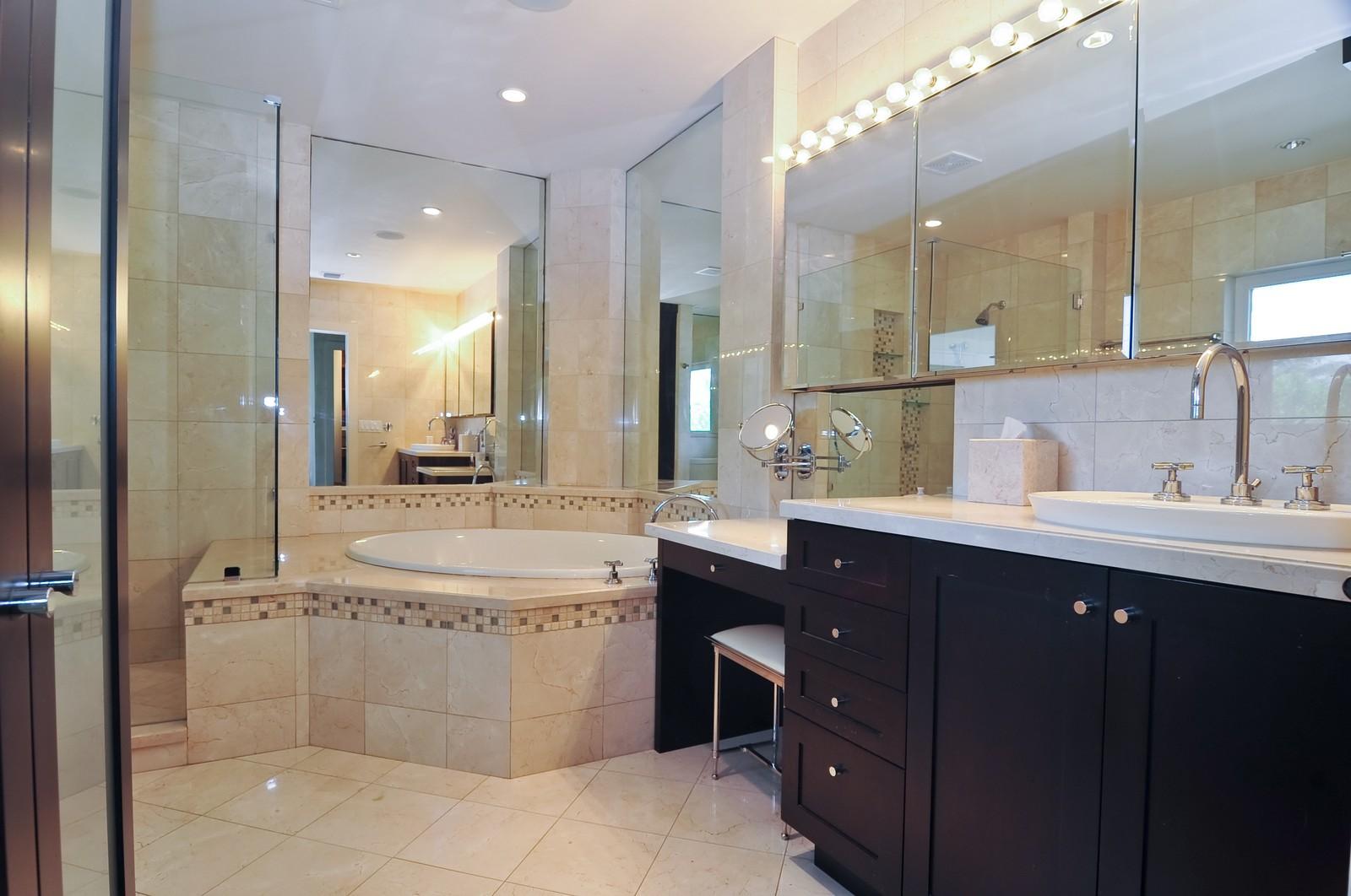 Real Estate Photography - 1231 Kane Concourse, Bay Harbor Islands, FL, 33154 - Master Bathroom