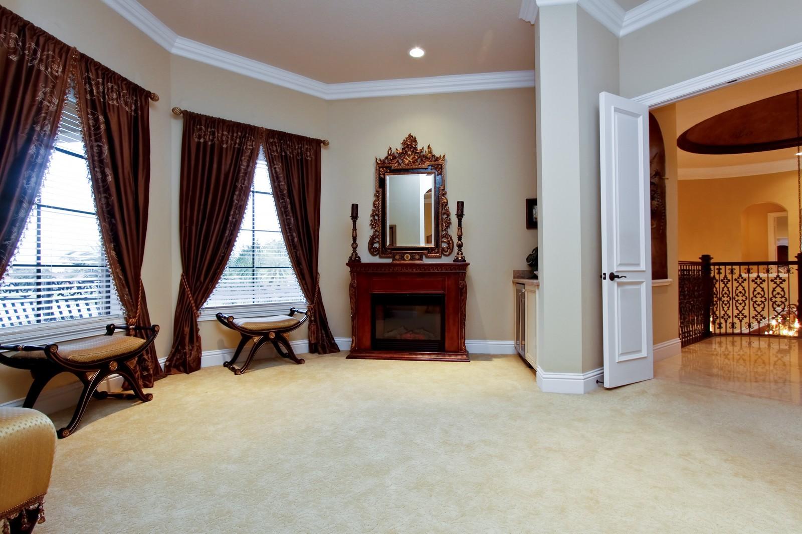 Real Estate Photography - 9391 Bridgebrook Drive, Boca Raton, FL, 33496 - Master Suite Ante Room