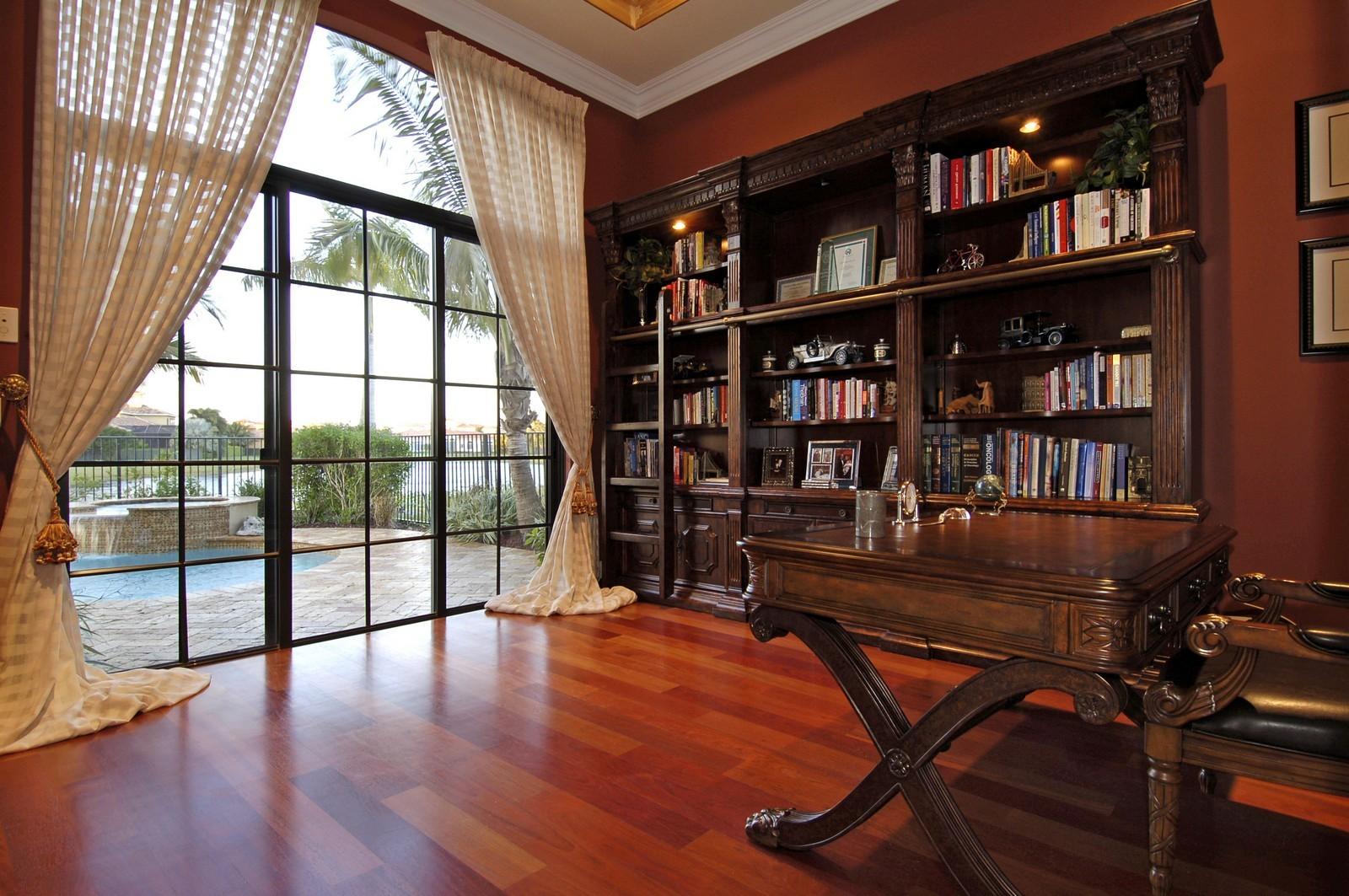 Real Estate Photography - 9391 Bridgebrook Drive, Boca Raton, FL, 33496 - Library