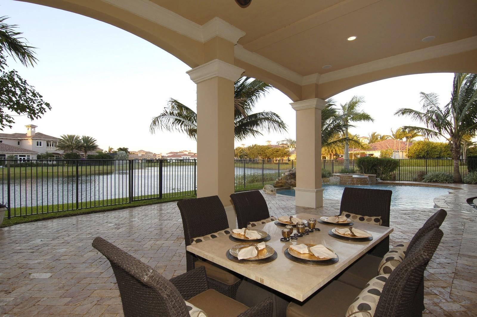 Real Estate Photography - 9391 Bridgebrook Drive, Boca Raton, FL, 33496 - Patio
