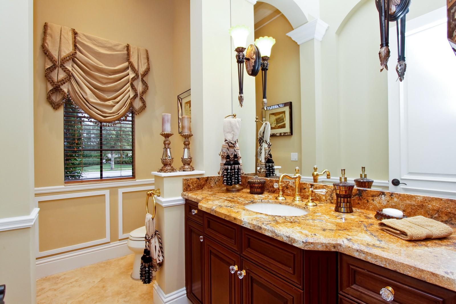 Real Estate Photography - 9391 Bridgebrook Drive, Boca Raton, FL, 33496 - Powder Bathroom