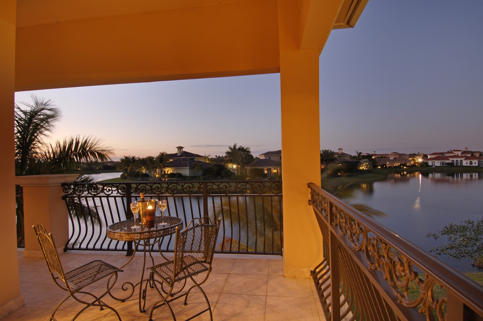 Real Estate Photography - 9391 Bridgebrook Drive, Boca Raton, FL, 33496 - Balcony