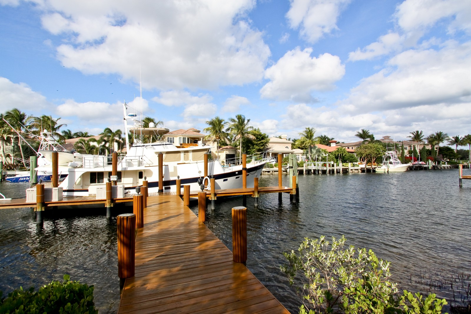 Real Estate Photography - 809 Harbour Isles Court, North Palm Beach, FL, 33410 - Dock