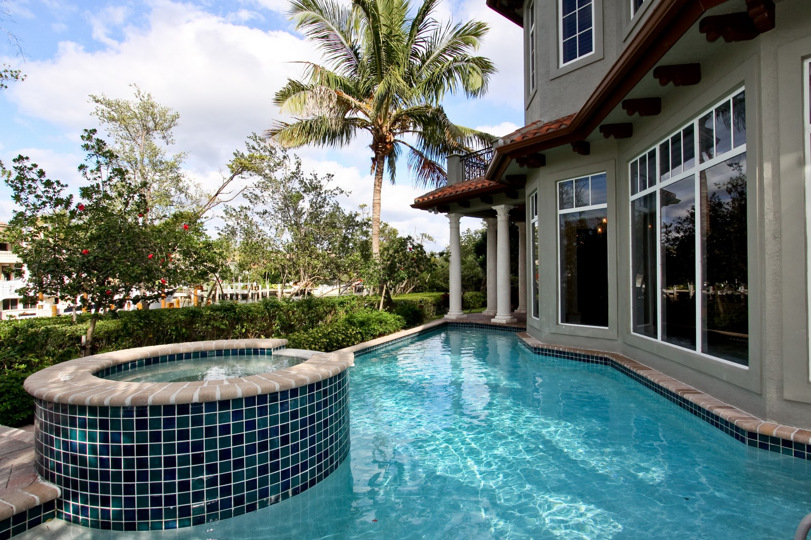 Real Estate Photography - 809 Harbour Isles Court, North Palm Beach, FL, 33410 - Pool