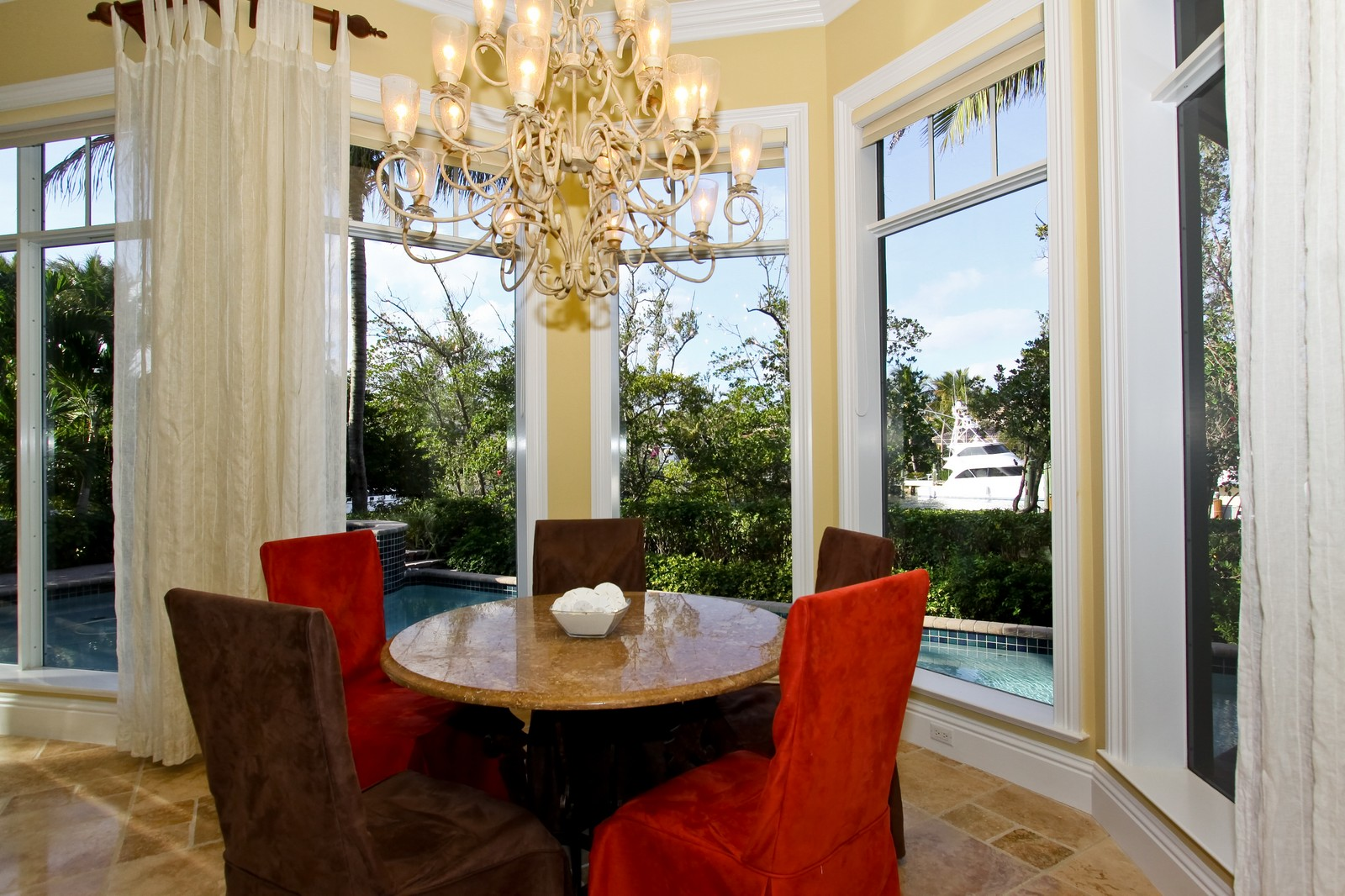 Real Estate Photography - 809 Harbour Isles Court, North Palm Beach, FL, 33410 - Breakfast Nook