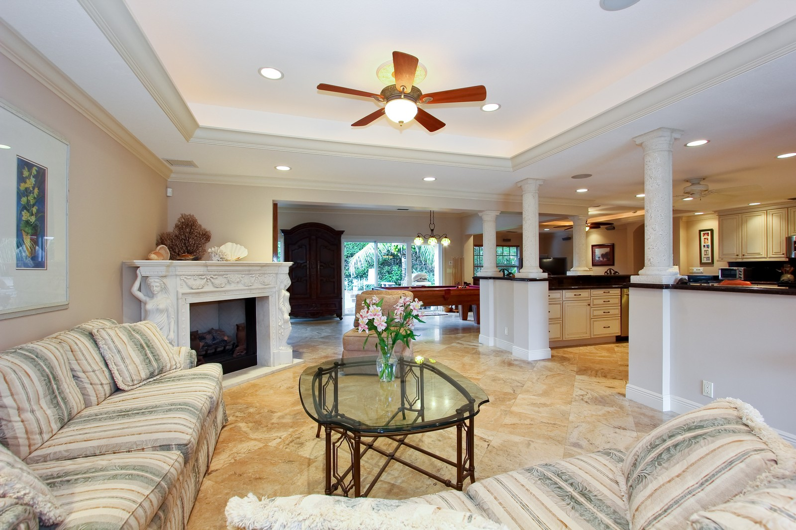 Real Estate Photography - 430 N. Lyra Circle, Juno Beach, FL, 33408 - Living Room