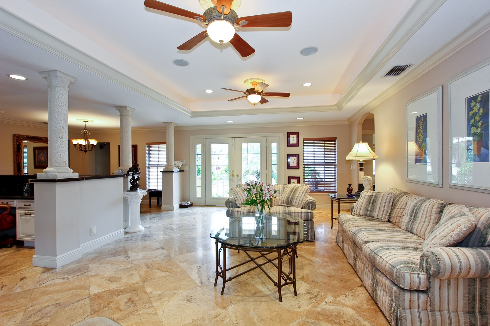 Real Estate Photography - 430 N. Lyra Circle, Juno Beach, FL, 33408 - Living Room