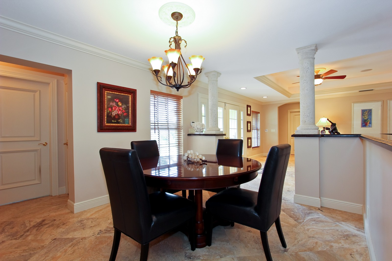 Real Estate Photography - 430 N. Lyra Circle, Juno Beach, FL, 33408 - Dining Room