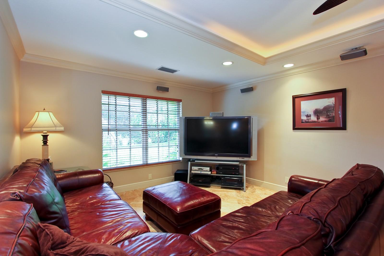 Real Estate Photography - 430 N. Lyra Circle, Juno Beach, FL, 33408 - Family Room