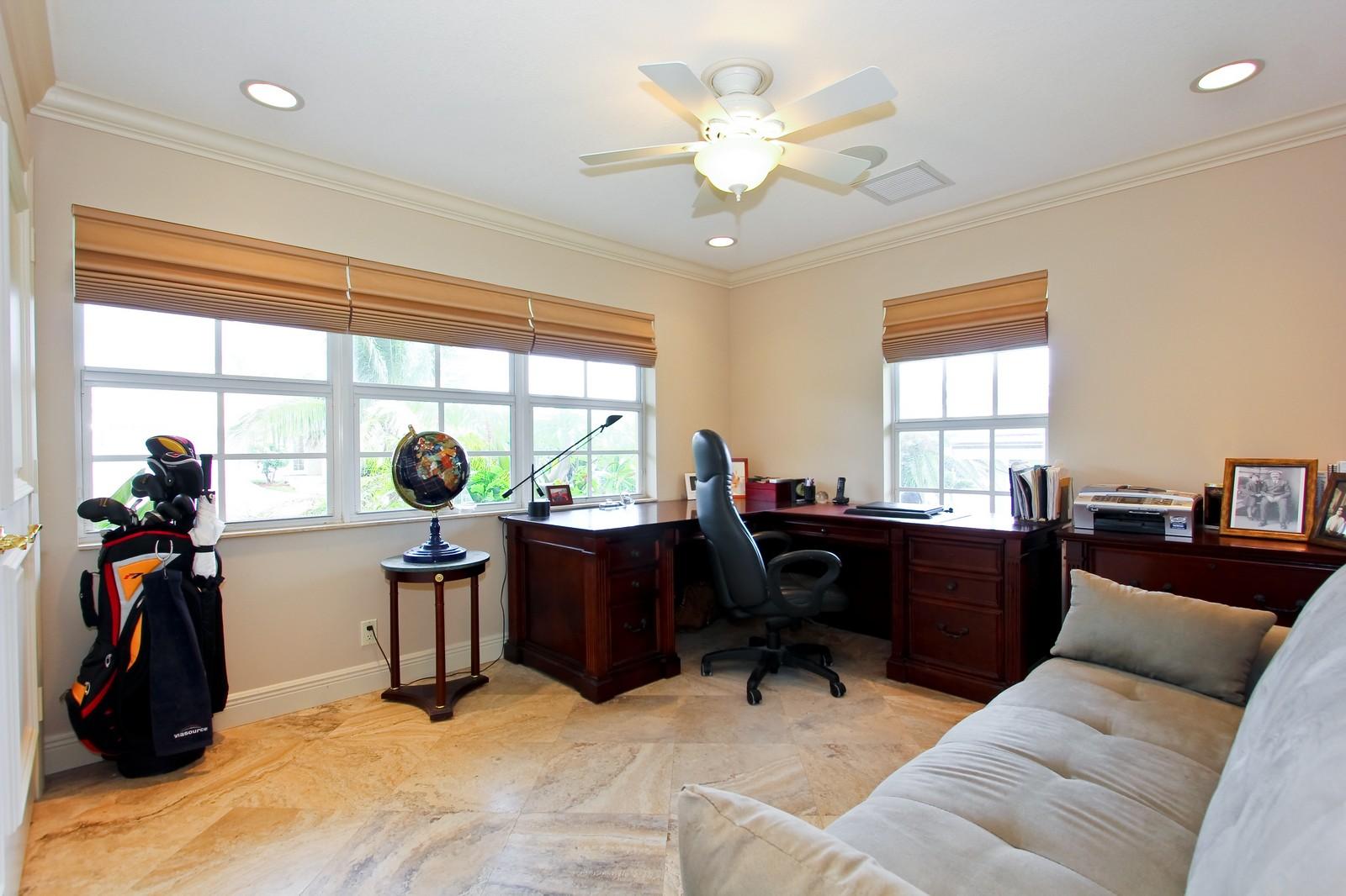 Real Estate Photography - 430 N. Lyra Circle, Juno Beach, FL, 33408 - Office