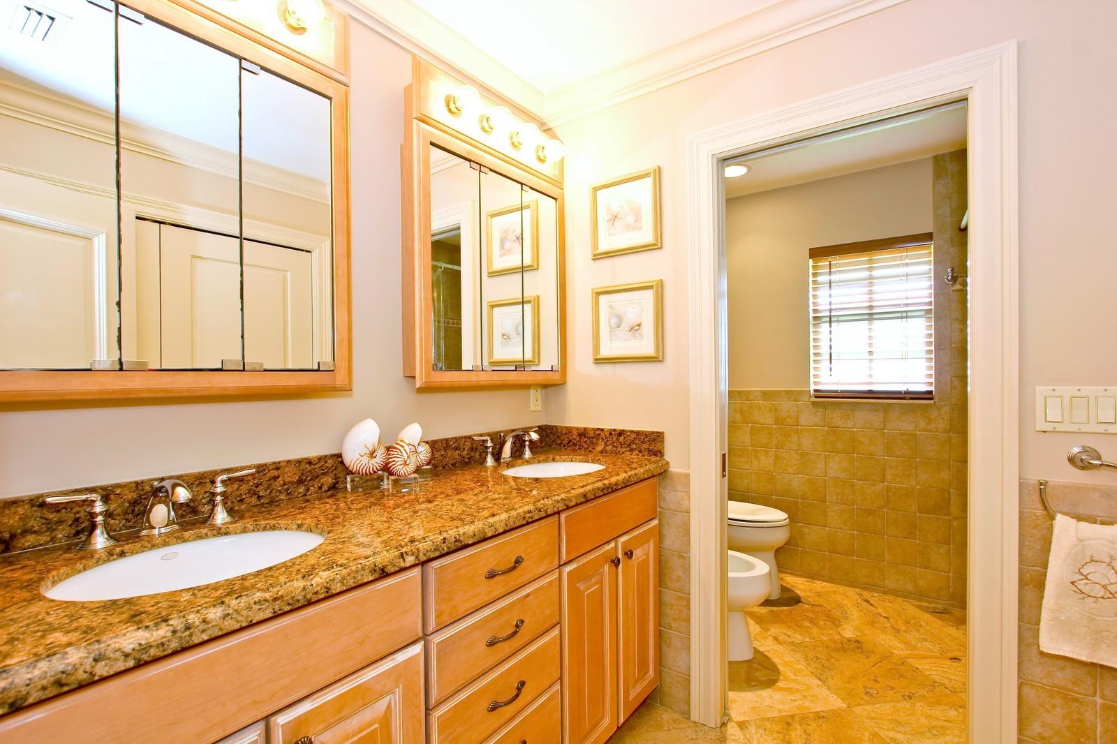 Real Estate Photography - 430 N. Lyra Circle, Juno Beach, FL, 33408 - Bathroom