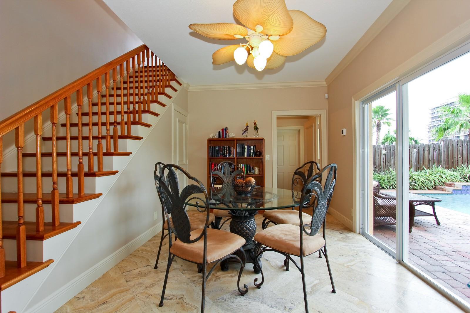 Real Estate Photography - 430 N. Lyra Circle, Juno Beach, FL, 33408 - Breakfast Nook