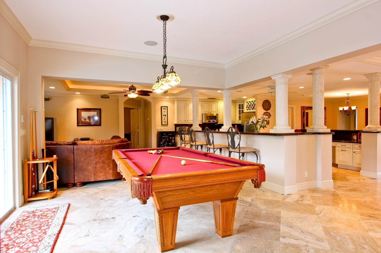 Real Estate Photography - 430 N. Lyra Circle, Juno Beach, FL, 33408 - Family Room / Kitchen