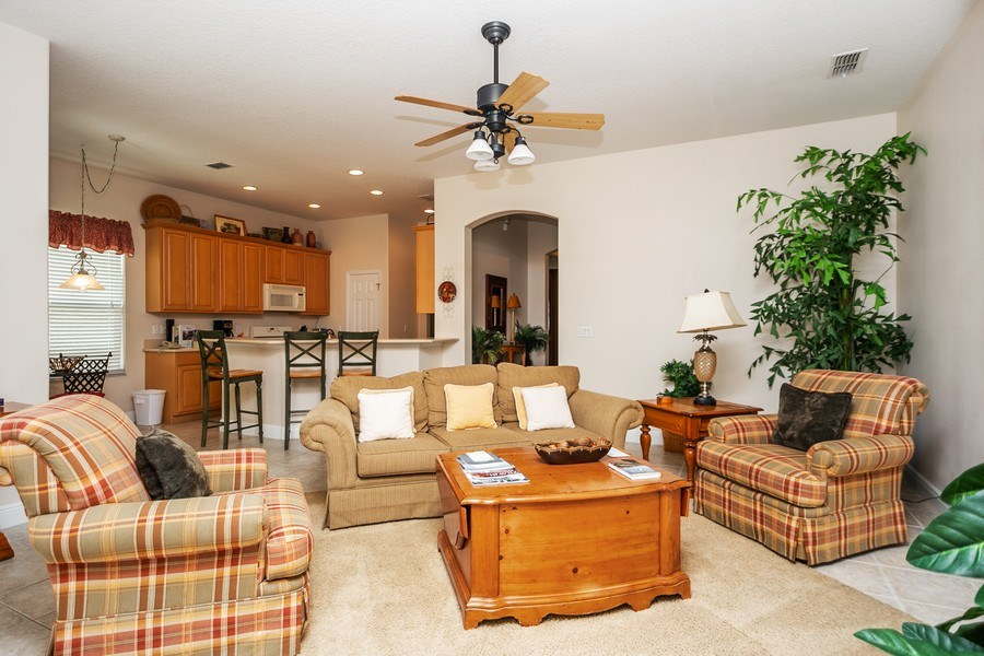 Real Estate Photography - 7528 Gathering Drive, reunion, FL, 34747 - Living Room