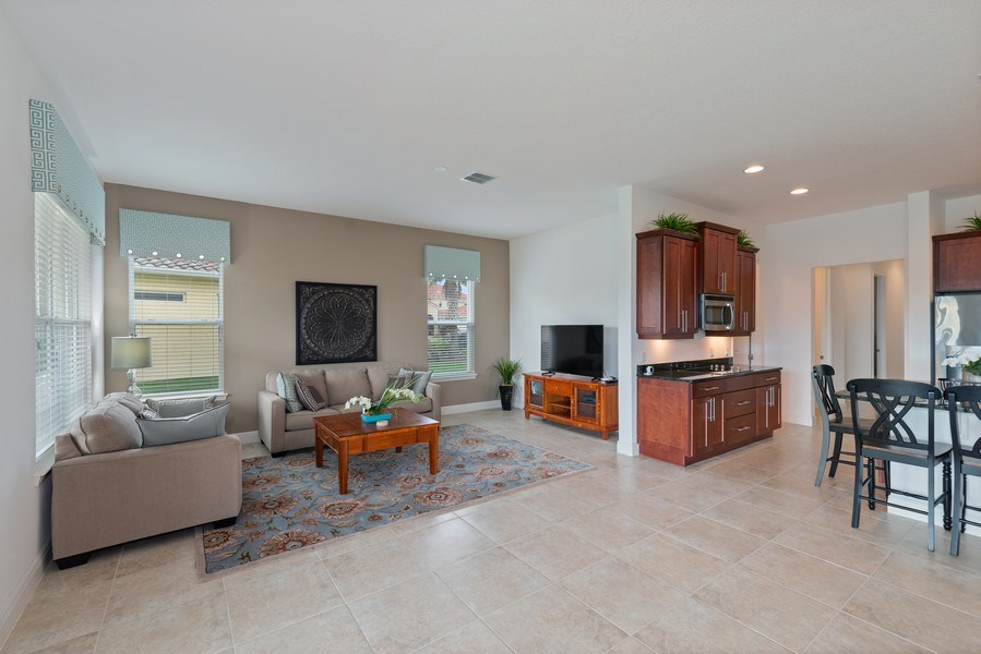 Real Estate Photography - 1141 Terralago Way, Kissimmee, FL, 34746 - Living Room