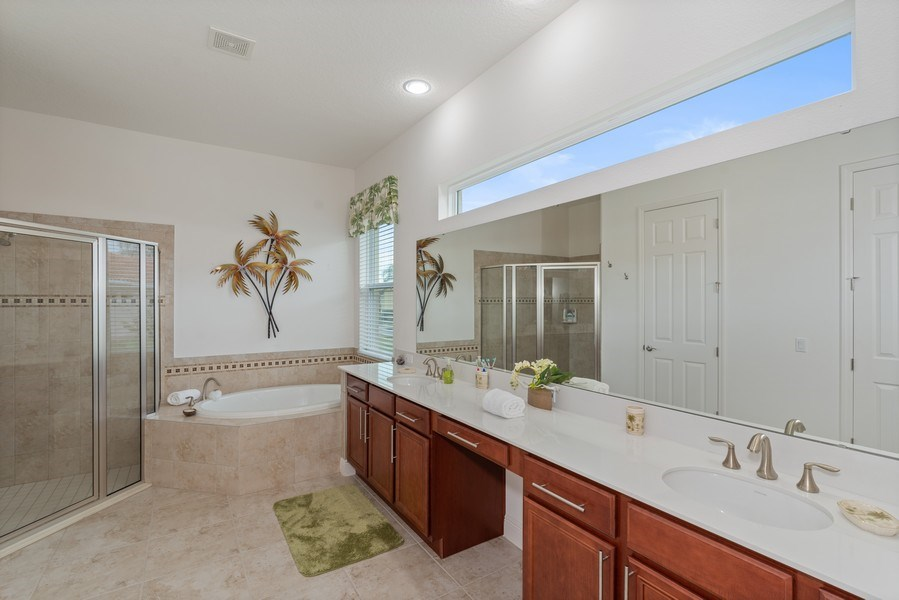 Real Estate Photography - 1141 Terralago Way, Kissimmee, FL, 34746 - Master Bathroom