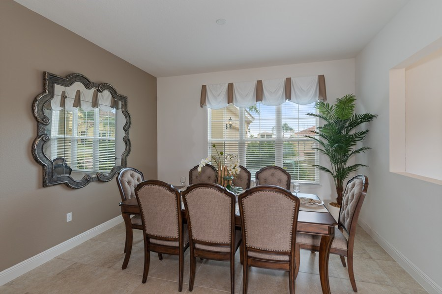 Real Estate Photography - 1141 Terralago Way, Kissimmee, FL, 34746 - Dining Room