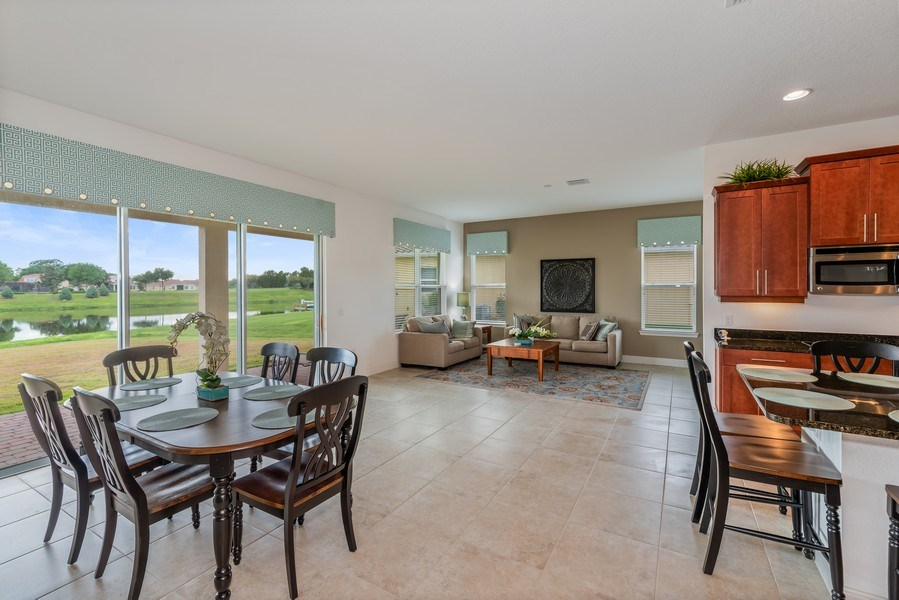 Real Estate Photography - 1141 Terralago Way, Kissimmee, FL, 34746 - Breakfast Nook