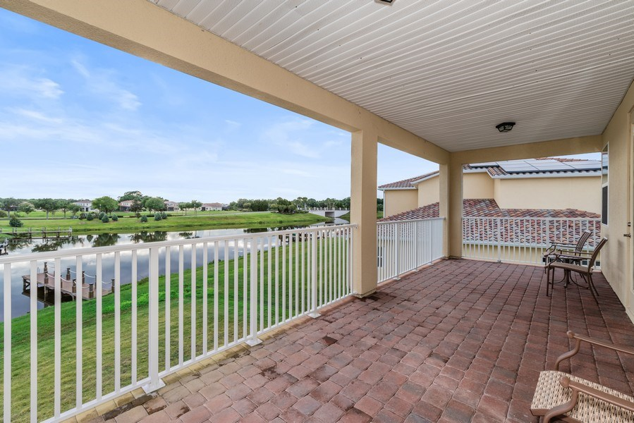 Real Estate Photography - 1141 Terralago Way, Kissimmee, FL, 34746 - Balcony