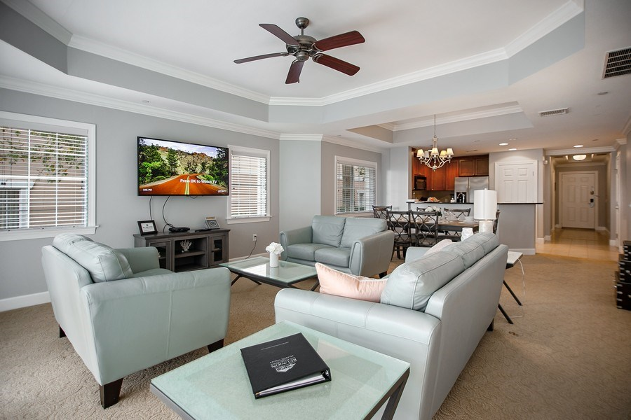 Real Estate Photography - 1364 Centre Court Ridge unit 104, Kissimmee, FL, 34747 - Living Room