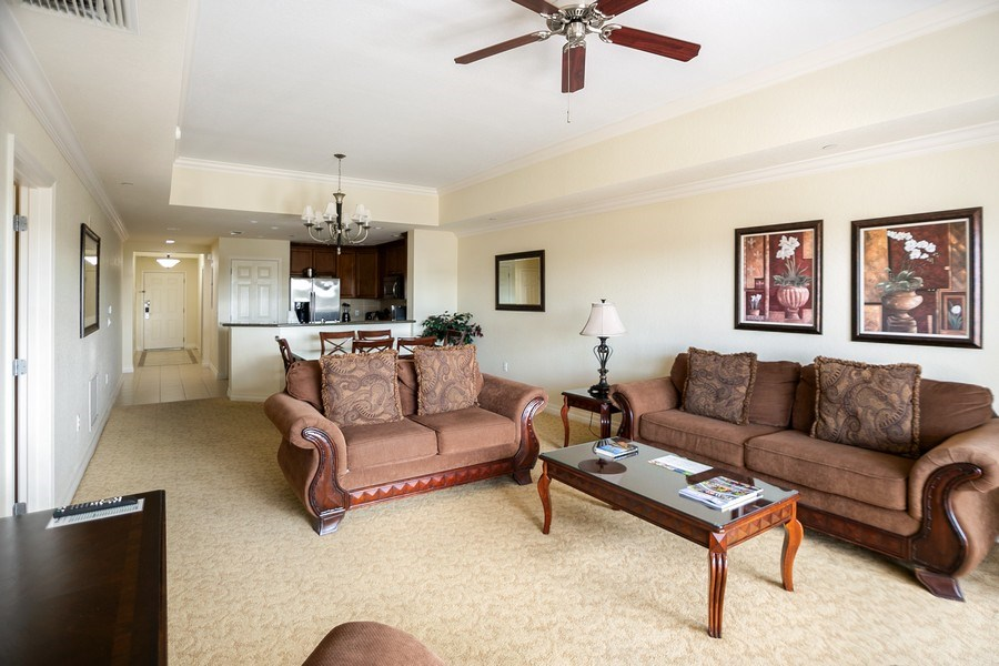 Real Estate Photography - 7601 Cabana Ct Unit 401, Reunion, FL, 34747 - Living Room