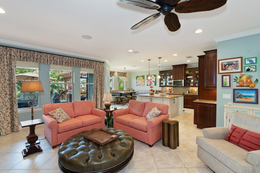 Real Estate Photography - 9046 Reflection Pointe Dr, Windermere, FL, 34786 - Family Room / Kitchen