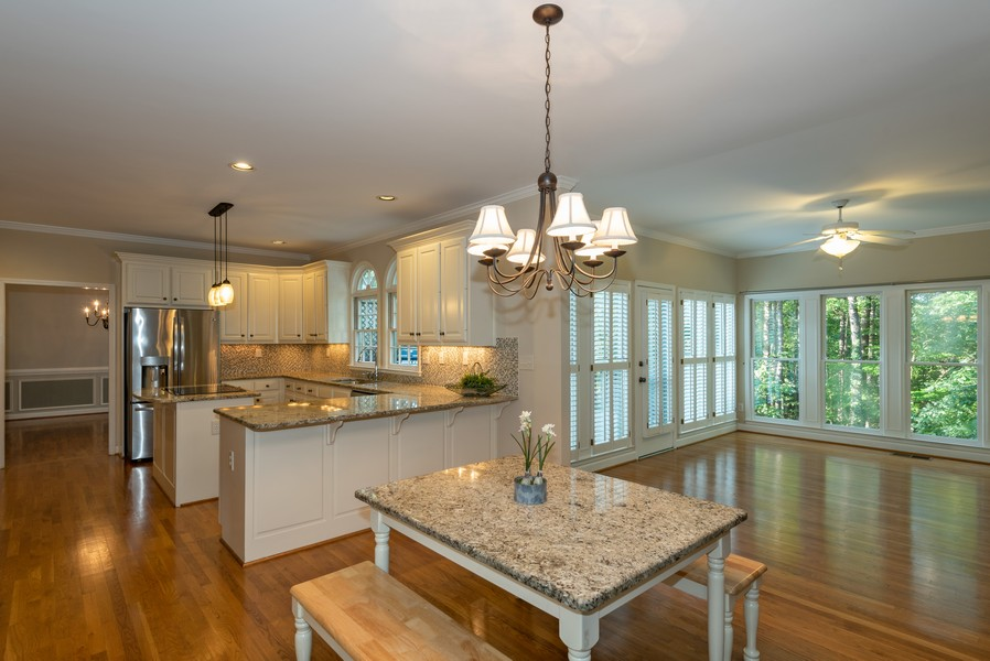 Real Estate Photography - 304 W Country Drive, Johns Creek, GA, 30097 - Breakfast Area