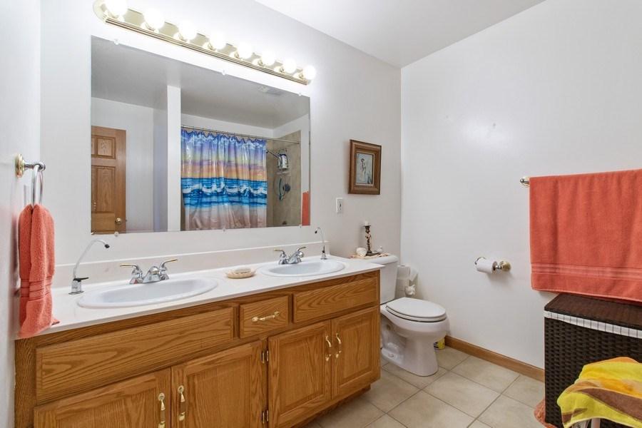 Real Estate Photography - 233 N Harbor Landing, Braidwood, IL, 60408 - Master Bathroom