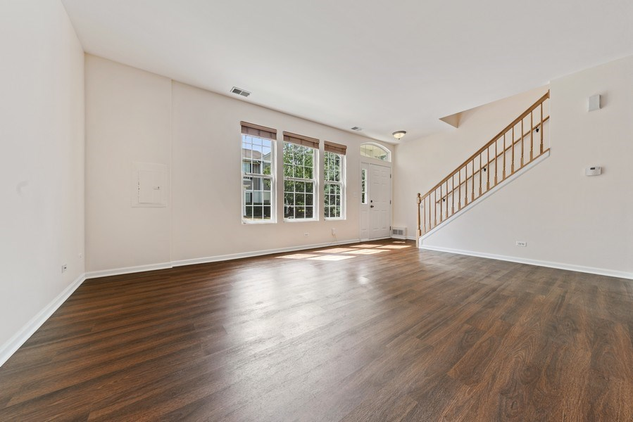 Real Estate Photography - 131 Springbrook Trail South, Oswego, IL, 60543 - Living Room
