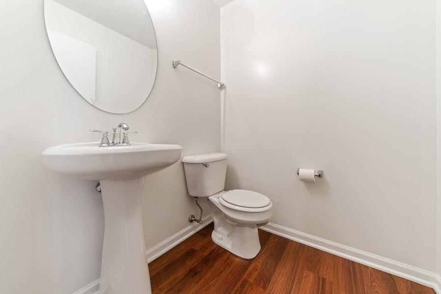 Real Estate Photography - 131 Springbrook Trail South, Oswego, IL, 60543 - Powder Room