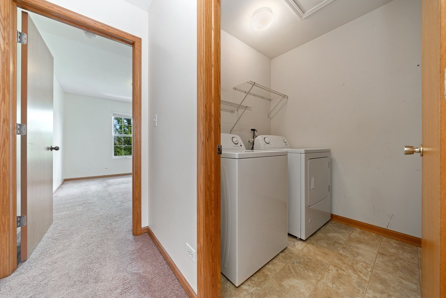 Real Estate Photography - 131 Springbrook Trail South, Oswego, IL, 60543 - Utility Room-2nd Floor