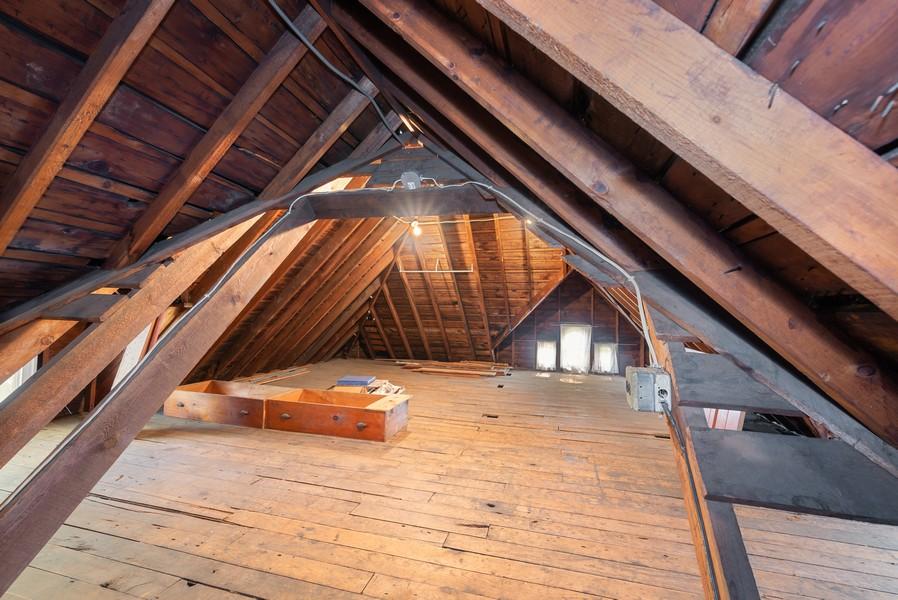 Real Estate Photography - 715 W State St, Sycamore, IL, 60178 - Attic